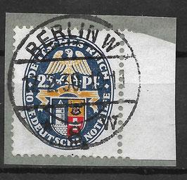 Deutsches Reich NOTHILFE LANDESWAPPEN 433 gestempelt auf Briefstück