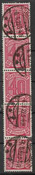 Deutsches Reich DIENST 28 gestempelt als 5-er Einheit