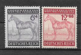 Deutsches Reich GALOPPRENNEN GROßER PREIS von WIEN 857-858 postfrisch (2)