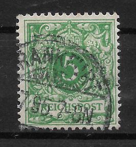 Deutsches Reich KRONE & ADLER 46c gestempelt (BPP WIEGAND) (11)