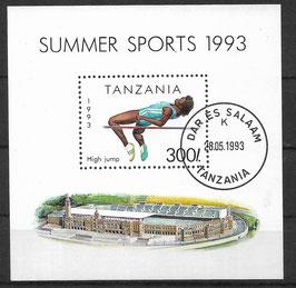 TANSANIA Block 212 gestempelt