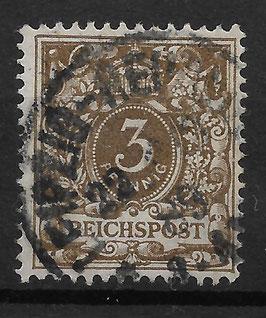 Deutsches Reich KRONE & ADLER 45a gestempelt (BPP WIEGAND)