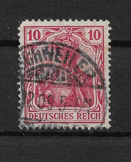 Deutsches Reich GERMANIA 86 Ia gestempelt (BPP JÄSCHKE) (II)