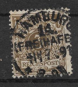 Deutsches Reich KRONE & ADLER 45a D gestempelt (BPP WIEGAND)
