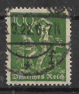 Deutsches Reich FREIMARKE 187a gestempelt (INFLA)