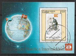 CUBA Block 100 gestempelt