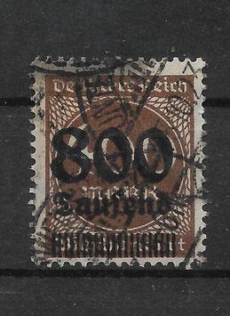 Deutsches Reich FREIMARKE 305 A gestempelt (INFLA)