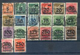 Deutsches Reich FREIMARKE 277-296 gestempelt (2)