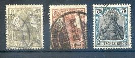 Deutsches Reich GERMANIA 102-104 gestempelt (2)