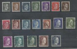 Deutsches Reich FREIMARKE ADOLF HITLER 781-798 gestempelt