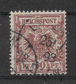 Deutsches Reich KRONE & ADLER 50c gestempelt (BPP WIEGAND) (2)