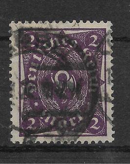 Deutsches Reich FREIMARKE POSTHORN 224a gestempelt (INFLA) (3)