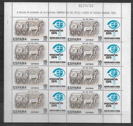 Spanien Kleinbogen 2604 postfrisch