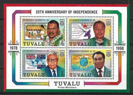 TUVALU Block 64 postfrisch