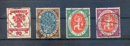 Deutsches Reich NATIONALVERSAMMLUNG 107-110 gestempelt (3)