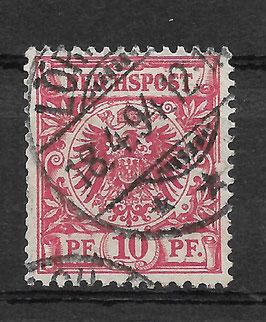 Deutsches Reich KRONE & ADLER 47c gestempelt (BPP WIEGAND)