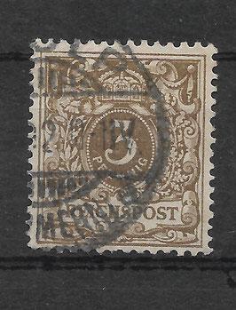 Deutsches Reich KRONE/ADLER 45a gestempelt (BPP WIEGAND) (II)