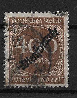Deutsches Reich DIENST 80 gestempelt (INFLA)