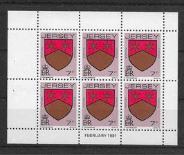Jersey Kleinbogen 249 A postfrisch (2)
