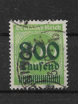 Deutsches Reich FREIMARKE 306 A gestempelt (INFLA) (2)