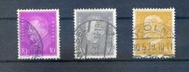 Deutsches Reich FREIMARKE 435-437 gestempelt (2)