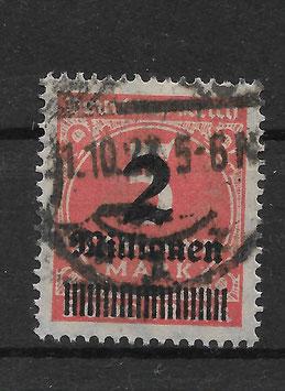 Deutsches Reich FREIMARKE 312 Ab gestempelt (INFLA) (2)