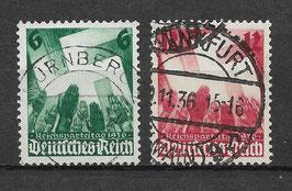 Deutsches Reich REICHSPARTEITAG 632-633 gestempelt