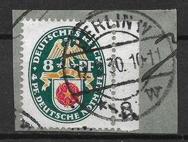 Deutsches Reich NOTHILFE LANDESWAPPEN 431 gestempelt auf Briefstück