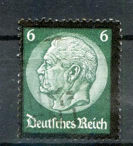 DR FREIMARKE TOD von PAUL von HINDENBURG 550 gestempelt