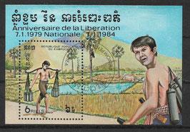 Kambodscha Block 134 gestempelt