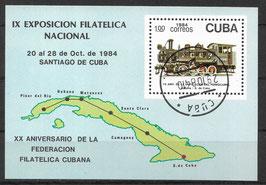 CUBA Block 87 gestempelt