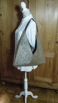 Nr. 014 - Origami-Tasche mit Ledergriff
