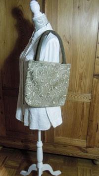 Nr. 010 - elegante Einkaufstasche, sehr weich gepolsterte  Griffe
