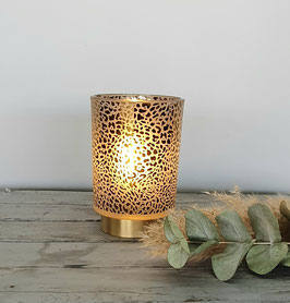 Lampe mit Leopardenmuster