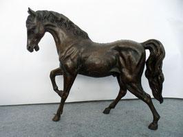 Pferd - braun - Figur - Bronze - Statue - Skulptur - Garten - 70 cm
