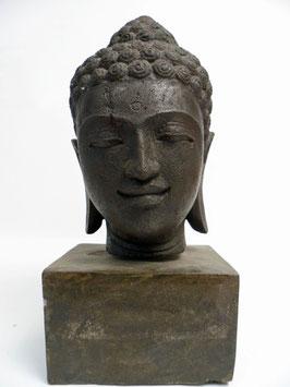 Buddha-Kopf - Vulkanstein - 48 cm