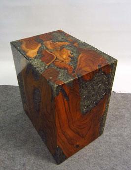 Wurzelholz Acryl Möbel Block Sockel Deko - H: 45 cm
