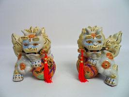 Shishi-Paar - Porzellan - 20 cm