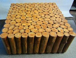"""Baumstamm-Tisch """"Teakholz"""" 100x100x45 cm"""
