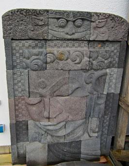 """Steinrelief - """"Buddhagesicht"""" - H: 170 cm"""