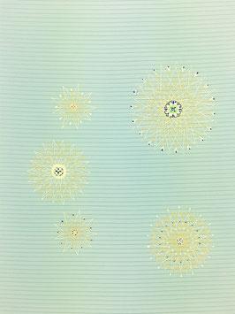 絽染帯水色地華紋