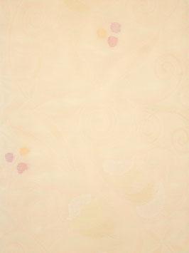 紗袋帯薄白ピンク地唐花