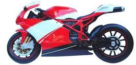 Réplica de motocicleta sport