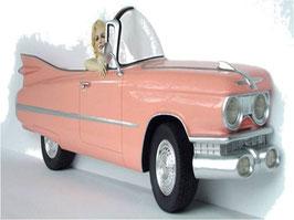Mural coche rosa
