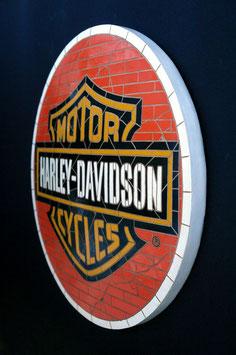 Réplica de mosaico Harley-Davidson