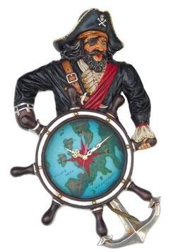 RÉPLICA DE PIRATA CON RELOJ TIMÓN | Relojes temáticos