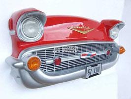 Réplica de frontal de coche rojo