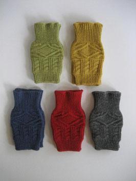 ウール100%ケーブル編み手袋(千代治)