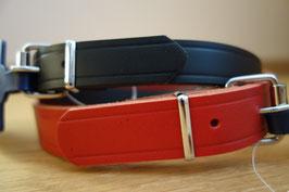 Hundehalsband Basic in Rot oder Schwarz