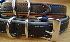 Halsband Active Comfort Leder in Schwarz/Grau oder Braun/Hellbraun